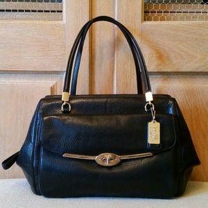 COACH Signature Black Frame Satchel Bag Rare